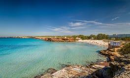 Cala Saona beach Royalty Free Stock Images
