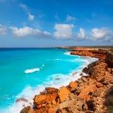 Cala Saona coast with turquoise Mediterranean Stock Image