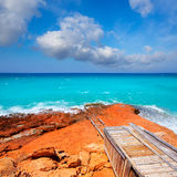 Cala Saona coast with turquoise Mediterranean Royalty Free Stock Photos