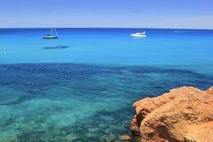 Cala Saona Formentera Îles Baléares Images libres de droits