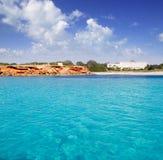 Cala Saona Formentera Baleaars eiland Stock Afbeeldingen