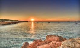Cala Saona strand i Formentera royaltyfri foto