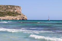 Cala Son Bou, Menorca, Spain. Cala Son Bou in Menorca turquoise beach, Spain Stock Photos