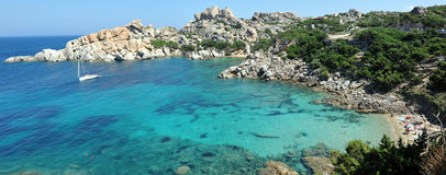 Cala Spinoza in Capo Testa, near the village of Santa Teresa di Gallura, Sardinia, Italy. Near the village of Santa Teresa di Gallura, in the northwestern coast Stock Image