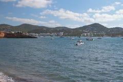 Cala Talamanca Ibiza, Spagna Immagini Stock