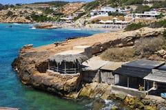 Cala Tarida beach in Ibiza Island, Spain Stock Photography