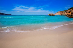 Cala Tarida in Ibiza beach at Balearic Islands Stock Photography