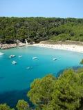 Cala Trebaluger. Global view over Cala Trebaluger Menorca Royalty Free Stock Photography
