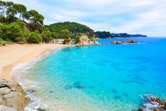 Cala Treumal παραλία Lloret de Mar Κόστα Μπράβα Στοκ Φωτογραφίες