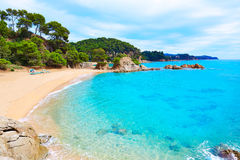 Cala Treumal beach Lloret de Mar Costa Brava Stock Images