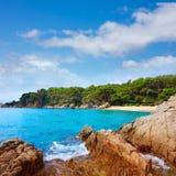 Cala Treumal strand Lloret de Mar Costa Brava Royaltyfria Bilder