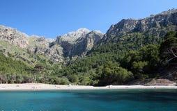 Cala Tuent, Escorca, Mallorca, Espanha Fotos de Stock