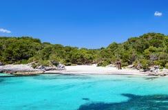 Cala Turqueta plaża Zdjęcia Stock