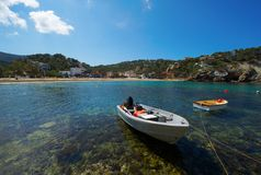 Cala Vadella Ibiza Spagna Immagine Stock