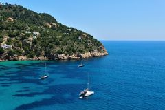 Cala Vadella Ibiza Spain Royalty Free Stock Image