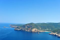 Cala Vadella Ibiza Spain royalty free stock photography