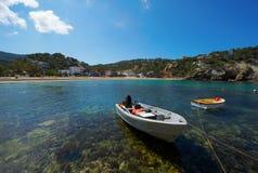 Cala Vadella Ibiza Spanien Stockbild