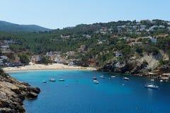 Cala Vadella Ibiza Spanje Royalty-vrije Stock Afbeeldingen