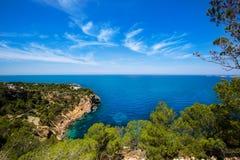Cala Vedella Vadella Ibiza island Mediterranean sea Royalty Free Stock Photography