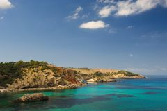 Cala Xarraca,  Ibiza Spain Royalty Free Stock Images