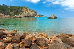 Cala Xarraca, Ibiza Spain imagem de stock royalty free