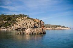 Cala Xarraca, Ibiza, Spain Royalty Free Stock Photos