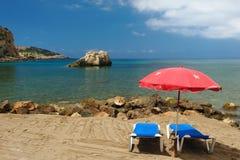 Cala Xarraca, Ibiza Spanje Stock Fotografie