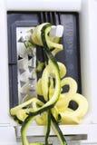 Calabacín de Spiralizer Imágenes de archivo libres de regalías