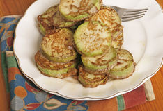 Calabacín frito Imagenes de archivo