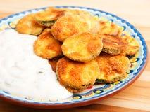 Calabacín frito Imagen de archivo