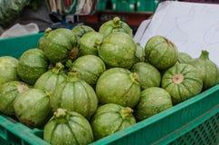 Calabacines en venta Foto de archivo