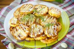 Calabacín frito Fotografía de archivo libre de regalías