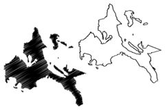 Calabarzon地区地图传染媒介 向量例证