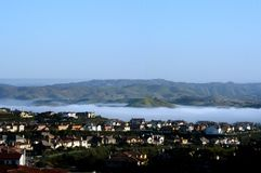 Calabasas Lake. Fog Clouds over Calabasas, California Stock Photography