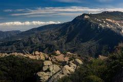 Calabasas Peak State Park. Picturesque view of Calabasas Peak State Park on a sunny day with blue sky and clouds, Calabasas, California royalty free stock photos