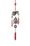 A calabash and bell wind chime. The chinese feng shui Stock Photos