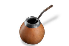 Calabash with bombilla Royalty Free Stock Image