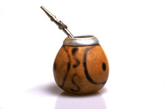 Calabash with bombilla Stock Image