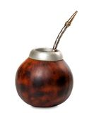 Calabash with bombilla Stock Photo