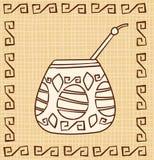 Calabash di vettore con Bombilla illustrazione di stock