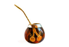 Calabash. The Calabash on a white background Royalty Free Stock Photography