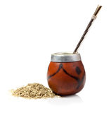 Calabash with yerba mate Royalty Free Stock Photos