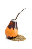 Calabash with yerba mate. Stock Image