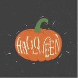 Calabaza anaranjada del vector para Halloween Foto de archivo libre de regalías