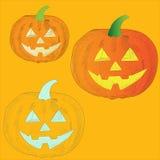Calabaza anaranjada madura Halloween vegetal que asusta Fotos de archivo libres de regalías