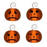 Calabaza anaranjada calabaza anaranjada, para las tarjetas por un día de fiesta Halloween, sistema del cheryrekh de calabazas ilustración del vector