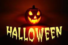 Calabaza asustadiza de Halloween. Imagen de archivo libre de regalías