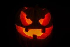 Calabaza asustadiza de la cara de Halloween Fotos de archivo