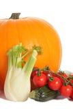 Calabaza, calabacín, hinojo y tomate Fotografía de archivo
