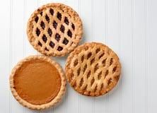 Calabaza Cherry Pies de Apple Fotografía de archivo libre de regalías
